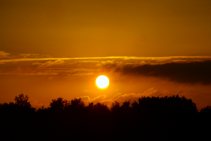 clouds orange sunset horizon