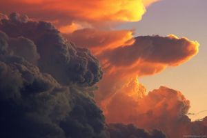 clouds sky contrast nature storm sunset