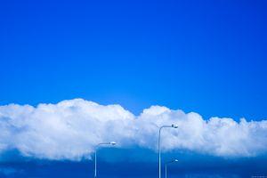 clouds skyscape street light