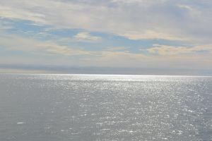 coast canada horizon clouds water