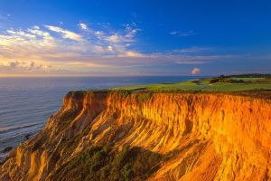 coast clouds brasil horizon sea landscape sky