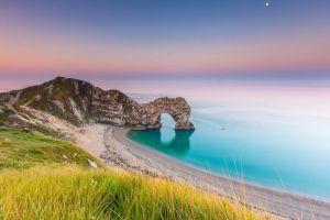 coast rock durdle door (england) landscape jurassic coast (england) sea