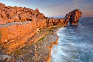 coast sea rocks pulpit rock norway