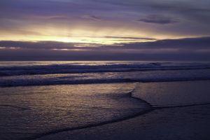 coast sea waves sky