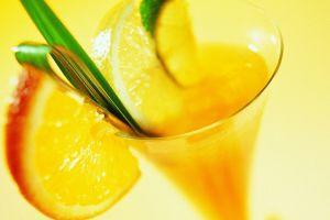 cocktails drinking glass juice fruit
