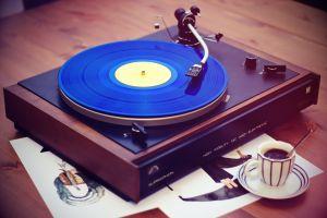 coffee vintage vinyl music