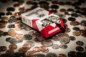 coins cigarettes money marlboro dollars