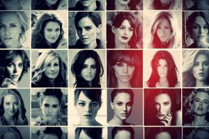 collage actress celebrity women