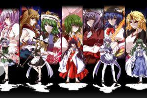 collage anime girls anime touhou