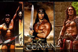 collage arnold schwarzenegger movies conan the barbarian