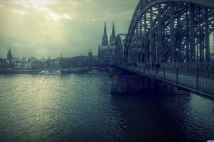 cologne bridge germany river cologne cathedral