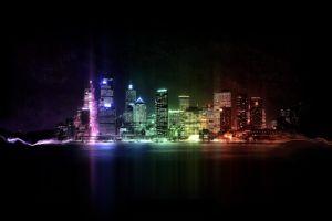 colorful digital art night