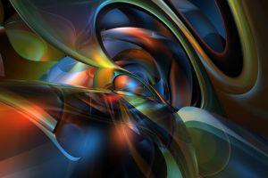 colorful digital art shapes render