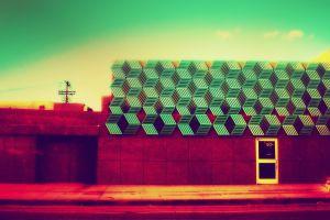 colorful door digital art building