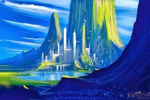 colorful fantasy art artwork fantasy city