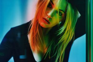 colorful long hair women face hair in face kate winslet actress celebrity