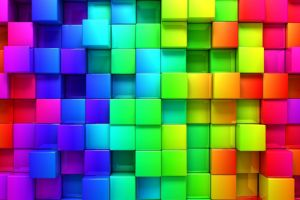 colorful minimalism render square digital art