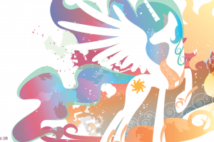 colorful my little pony princess celestia fantasy art