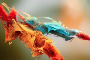 colorful orange artwork digital art red blue simple background