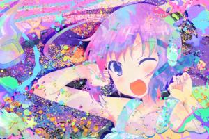 colorful sanae higashihongan invaders of rokujouma anime girls anime