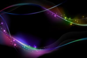 colorful shapes abstract waveforms