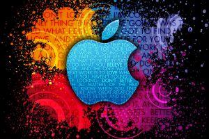 colorful typography paint splatter apple inc.