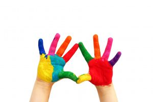 colorful white background simple background hands