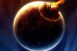 comet planet artwork space space art