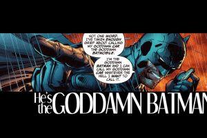 comics comic art superhero batman beard typography