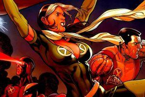 comics marvel comics x-men rogue (character) cyclops wolverine