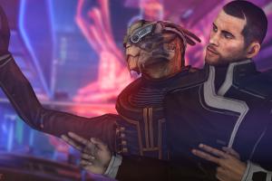 commander shepard garrus vakarian video games mass effect