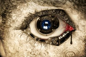 concept art digital art fantasy art clockwork lens eyes artwork