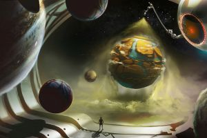 concept art fantasy art space planet artwork creativity digital art