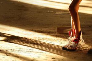 converse shadow women sunlight sneakers legs unfastened