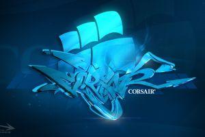 corsair window cyan digital art blue intel