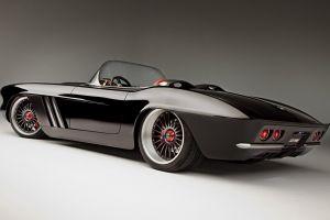 corvette vehicle car oldtimer chevrolet corvette black cars simple background