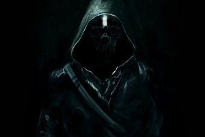 corvo attano black video games dishonored dark