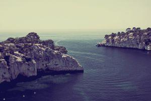 coves sea bay landscape cliff coast