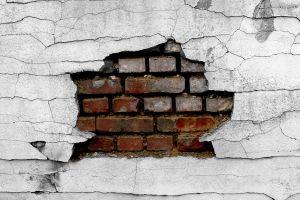 cracked bricks broken