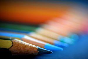 crayons pencils colorful