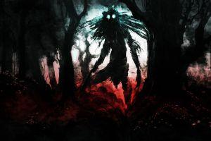 creature trees bloodborne video games artwork fantasy art black warrior dark creepy