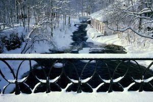 creeks snow winter