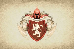 crest artwork sigils game of thrones coats of arms paper house lannister