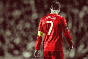 cristiano ronaldo portugal selective coloring hdr sport  men soccer