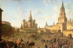 cropped europe russia moscow artwork painting