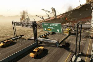 crysis car bridge taxi broken crysis 2 video games destruction ship