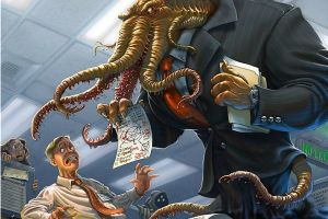 cthulhu humor laughing office artwork