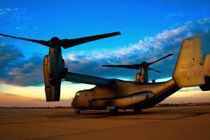 cv-22 osprey aircraft vehicle sky