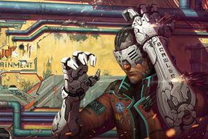 cyberpunk futuristic science fiction artwork cyborg