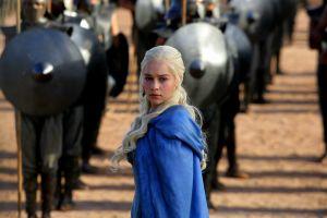 daenerys targaryen blue clothing emilia clarke blue coat blue clothes game of thrones women